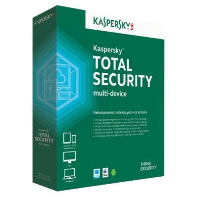 Kaspersky Total Security multi-device 2018 CZ, 2 zařízení, 1 rok, obnovení licence, elektronicky