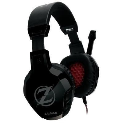 Zalman headset ZM-HPS300 / herní / náhlavní / drátový / 50mm měniče / 2x 3,5mm jack