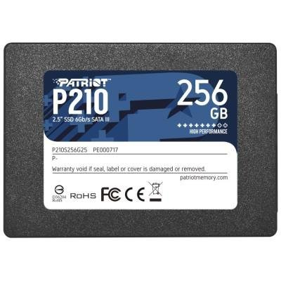 "PATRIOT P210 256GB SSD / 2,5"" / Interní / SATA 6GB/s / 7mm"