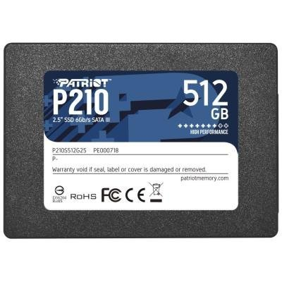 "PATRIOT P210 512GB SSD / 2,5"" / Interní / SATA 6GB/s / 7mm"