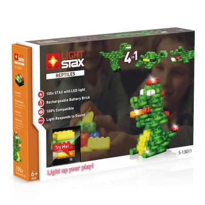 LIGHT STAX svítící stavebnice Reptiles V2 (Animals) - LEGO® - kompatibilní