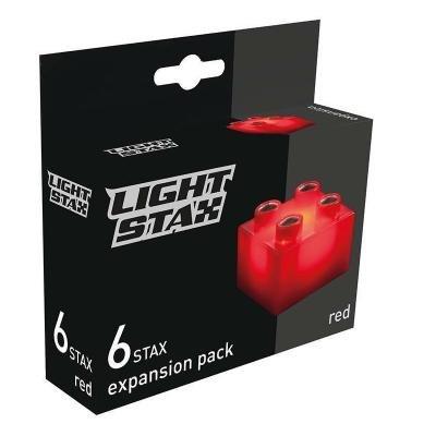 Stavebnice Light STAX červené kostky 6ks