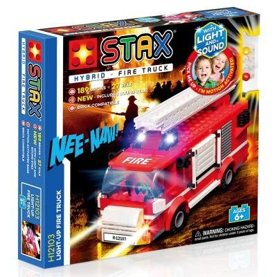 STAX hybrid stavebnice Light-up Fire Truck - LEGO® - kompatibilní