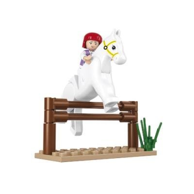 Stavebnice Sluban Kůň s překážkou