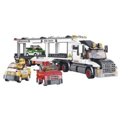 Stavebnice Sluban Kamion pro přepravu aut
