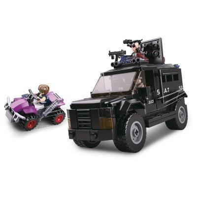 Stavebnice Sluban SWAT vyzbrojený vůz