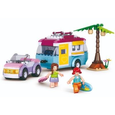 Stavebnice Sluban Auto s karavanem