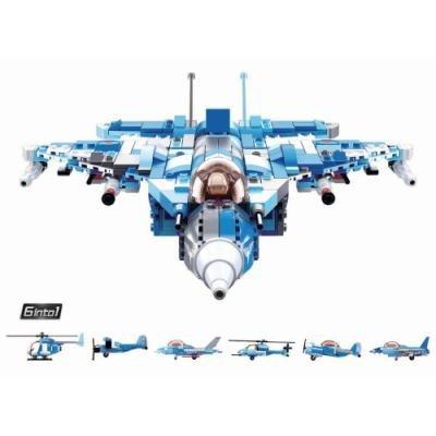 Stavebnice Sluban Armádní stíhací letoun 6v1