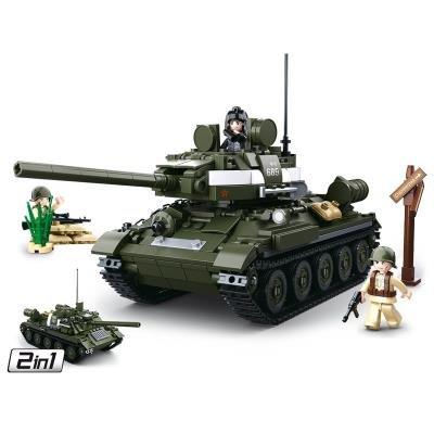 Stavebnice Sluban Sovětský tank T-34/85 2v1
