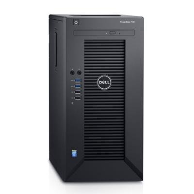 DELL PowerEdge T30/ Xeon Quad Core E3-1225 v5/ 8GB/ 1x 240GB SSD + 1x 1TB 7200 ot./ DVDRW/ W10Pro/ 3Y ProSupport on-site