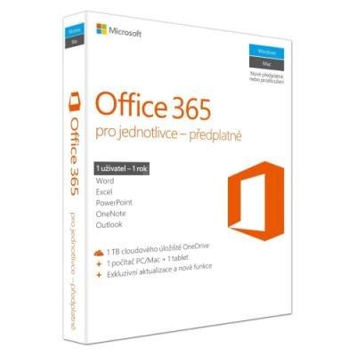 Software MS Office 365 pro jednotlivce 1 rok