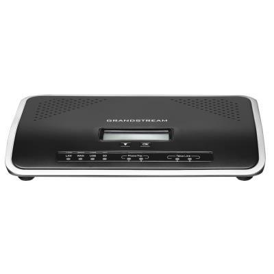 Grandstream UCM6202   IP PBX - IP pobočková ústředna, 2xFXO, 2FXS, 2xRJ-45, router mode, USB, SD-card, PoE+