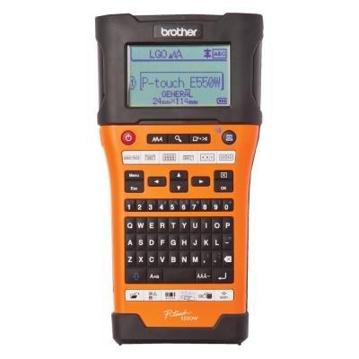 BROTHER tiskárna samolepících štítků PT-E550WVP/ 180 dpi/ LCD/ USB/ Wi-Fi/ kufr + tiskárna  PTE110VP zdarma