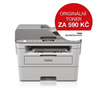 BROTHER laser MFC-B7715DW/ 1200x1200 dpi/ až 34 str./min/ černobílá/ Toner benefit/ fax/ scan/ copy/ ADF/ LAN/ WiFi/ USB
