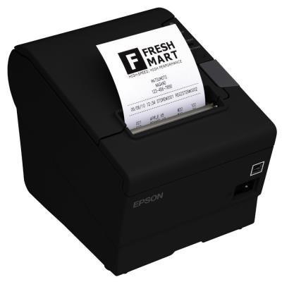 EPSON TM-T88V/ Pokladní tiskárna/USB + WiFi/ Černá/ Včetně zdroje/ EU kabel