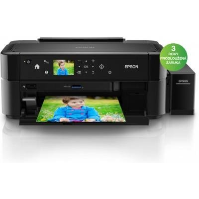Epson FOTO L810/ 5760 x 1440/ A4/ LCD/ 6 barev/ Čtečka/ Potisk DVD/ USB/ 3 roky záruka po registraci