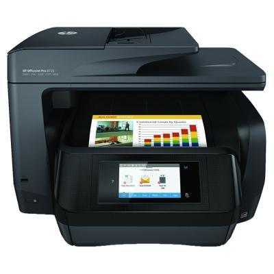 HP OfficeJet Pro 8725 AiO, 24/20ppm, 1200x1200 dpi, USB, LAN, Wifi, Duplex, dotyk.LCD