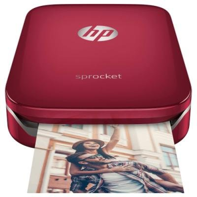HP Sprocket/HP Zink 5x7,6cm/ 1ppm/ BT/ USB/ kompatibilní s Android 4,4+, iOS 8.0+/ červená