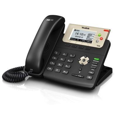 Yealink SIP-T23G IP telefon/ 3x SIP/ CZ/SK displej/ 2x 10/100/1000/ QoS/ PoE napájení/ bez adaptéru