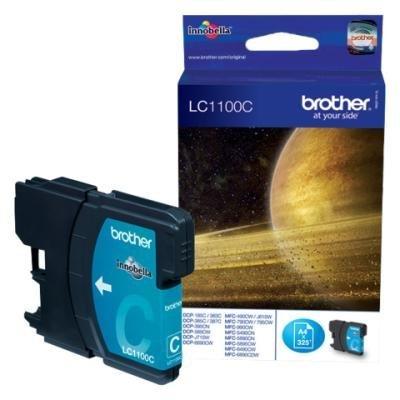 Inkoustová náplň Brother LC1100C modrá