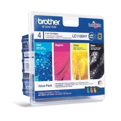 Inkoustová náplň Brother LC1100HY CMYK