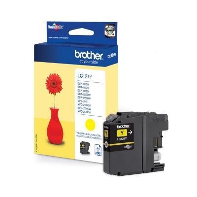 Inkoustová náplň Brother LC121Y žlutá