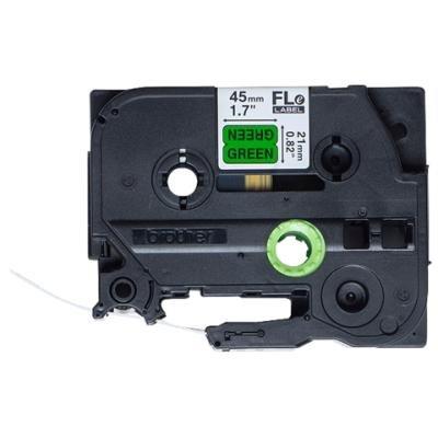 Páska Brother FLE-7511 černá-zelená 21mm