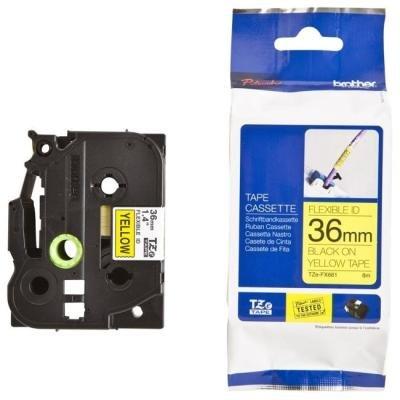 Páska Brother TZE-FX661 žlutá - černá 36 mm