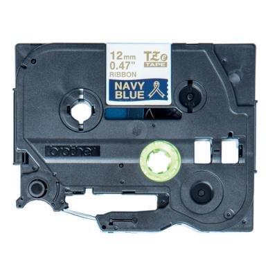 Páska Brother TZE-RN34 zlatá-nám.modř.pruhy 12mm