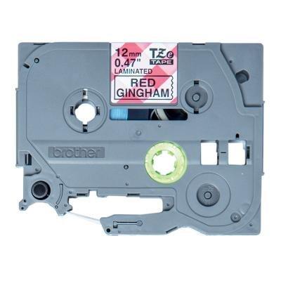 Páska Brother TZE-MPRG31 červené kachličky 12mm