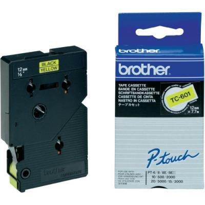 Páska Brother TC-601 žlutá-černá 12mm