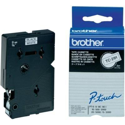 Páska Brother TC-291 bílá-černá 9mm