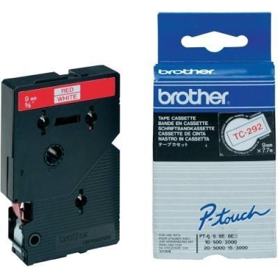 Páska Brother TC-292 bílá-červená 9mm