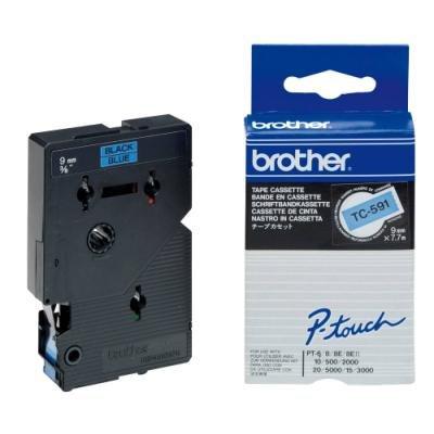 Páska Brother TC-591 modrá-černá 9mm