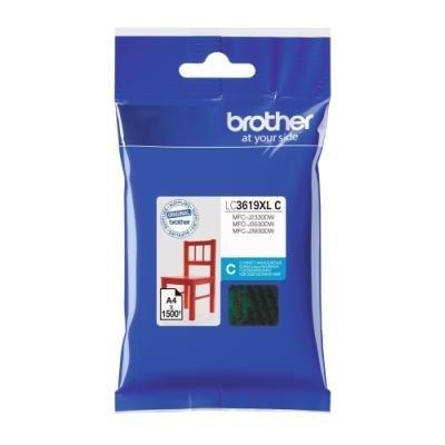 BROTHER inkoustová náplň LC-3619XLC pro Brother MFCJ2330, 3530, 3930 / modrá