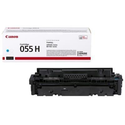 Canon originální toner 055HC (cyan, 5900str.) pro Canon MF742Cdw, MF744Cdw, MF746Cx, LBP663Cdw, LBP664Cx