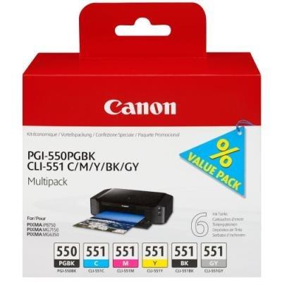 Inkoustová náplň Canon PGI-550 a CLI-551 multipack