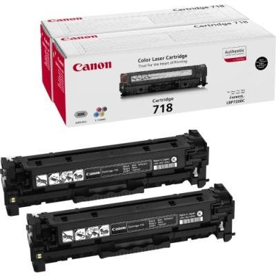 Toner Canon 718 BK VP dvojpack černý