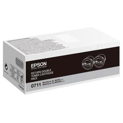 Toner Epson 0711 dvojpack černý