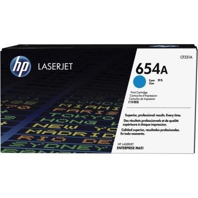 Toner HP 654A (CF331A) modrý