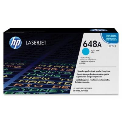 Toner HP 648A (CE261A) modrý