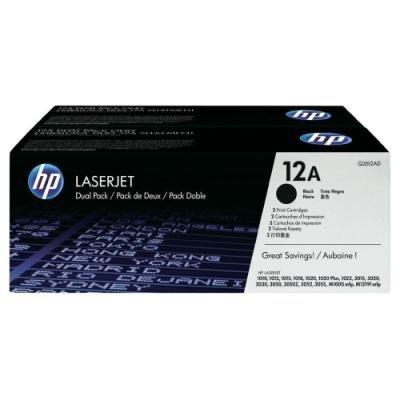 Toner HP 12A (Q2612AD) dvojpack černý