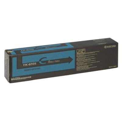 Toner Kyocera TK-8705C modrý