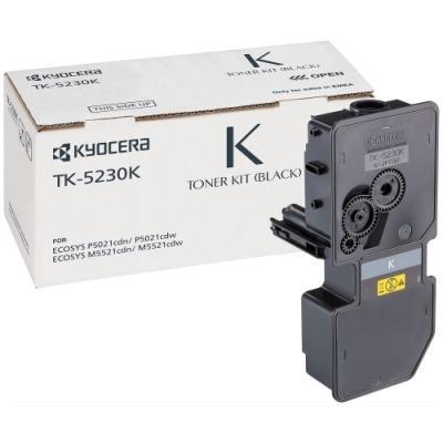 Kyocera toner TK-5230K, pro M5521cdn/cdw, P5021cdn/cdw, černý, 2600 stran