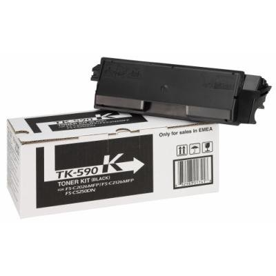 Kyocera toner TK-590K/ FS-C2026MFP/ C2126MFP/ 7 000 stran/ Černý