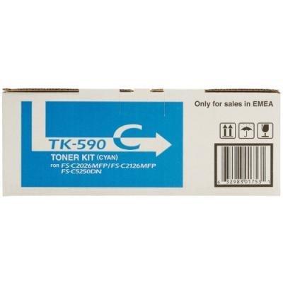 Toner Kyocera TK-590C modrý