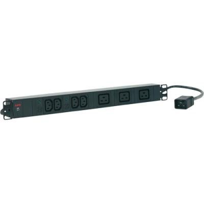 "AEG Rozvodný panel PDU 16-1 pro 19"" Rack, hliník, 16A, 2x 2 C13 + 3x C19"