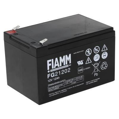 FIAMM olověná baterie FG21202 do UPS APC/ 12V/ 12,0Ah/ životnost 5 let/ Faston F2-6,3mm