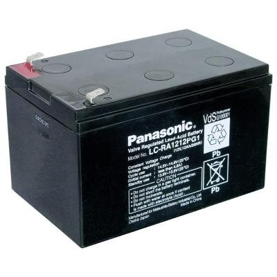 PANASONIC olověná baterie LC-RA1212PG1 do UPS APC/ 12V/ 12Ah/ životnost 6-9 let/ Faston F2-6,3mm