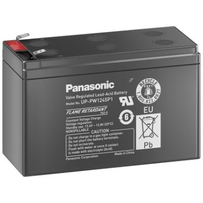 PANASONIC olověná baterie UP-PW1245P1 do UPS AEG/APC/EATON/ 12V/ 9Ah/ životnost 10-12let/ Faston F2-6,3mm